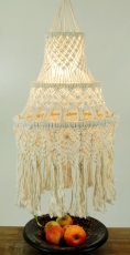 Deckenlampe / Deckenleuchte Sondini - in Bali handgefertigt aus Macramee