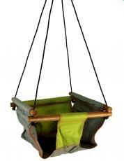 Baby und Kleinkind Hängesitz, Sitzschaukel grün
