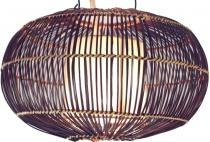 Deckenlampe / Deckenleuchte Cadiz - in Bali handgemacht aus Naturmaterial, Bambus, Baumwolle