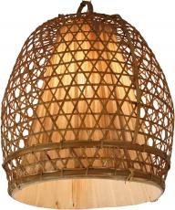 Deckenlampe / Deckenleuchte Hernando - in Bali handgemacht aus Naturmaterial, Rattan, Bambus, Baumwolle