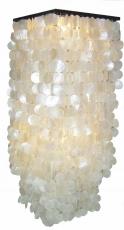 Deckenlampe / Deckenleuchte Sabah XL, Muschelleuchte aus hunderten Capiz, Perlmutt-Plättchen