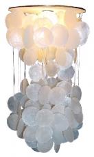 Deckenlampe / Deckenleuchte Shells-55, Muschelleuchte aus hunderten Capiz, Perlmutt-Plättchen