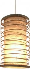 Faltbarer Lampenschirm/Deckenlampe/Deckenleuchte Malai 50, handgemacht in Bali, Baumwolle