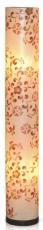 Fiberglas Stehlampe / Stehleuchte Taragona , Bambus, Baumwolle,