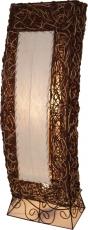 Stehlampe / Stehleuchte Karema in 2 Größen - in Bali handgemacht aus Naturmaterial, Kokosfaser, Rattan,