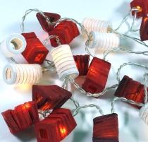 LED Lichterkette Lampions - mix/rot