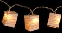 LED Lichterkette Lampions square - naturweiß