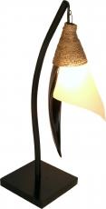 Palmenblatt Stehlampe / Stehleuchte Bandura- in Bali handgemacht aus Naturmaterial, Palmholz,