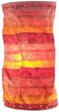 runde Papier Hängelampe, Lokta Papierlampenschirm Pamir, handgeschöpftes Papier - Sunset