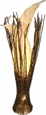 Stehlampe / Stehleuchte Kokostulpe- in Bali handgemacht aus Naturmaterial, Kokosfaser,