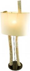 Stehlampe / Stehleuchte Kupang, in Bali handgefertigt aus Naturmaterial, Holz, Baumwolle,