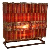 Tischlampe/Tischleuchte Luzerna - in Bali handgemachte exotische Stimmungsleuchte