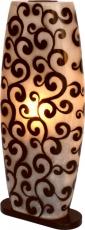 Tischlampe/Tischleuchte Legian, handgemacht in Bali, Fiberglas