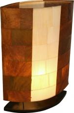 Tischlampe / Tischleuchte Nelius in 3 Größen oder als Set - in Bali handgemacht aus Naturmaterial, Bananenblätter,