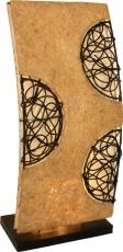 Tischlampe / Tischleuchte `Sandakan` - in Bali handgemacht aus Naturmaterial