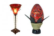 Bunte und exotische Tischlampen