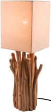 Tischleuchte / Tischlampe Kukuma,Treibholz, Baumwolle, in Bali handgemacht aus Naturmaterial - Modell Kukuma