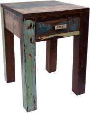 Vintage Kaffeetisch, Nachttisch, Beistelltisch aus Recyclingholz