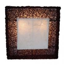 Wandlampe / Wandleuchte Artis in 3 Größen oder als Set - in Bali handgefertigt aus Naturmaterial, Rattan,
