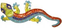 Wandlampe/Wandleuchte Gecko 4 farbig Kinderzimmer Lichtobjekt, handgemacht aus Metall