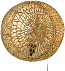 Wandlampe / Wandleuchte Maumere, in Bali handgefertigt aus Naturmaterial, Rattan