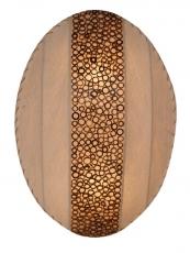 Wandlampe / Wandleuchte Zara - in Bali handgefertigt aus Naturmaterial, Kokosfaser,