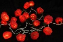 Blüten Lichterkette 20 Stk. Rose hellrot