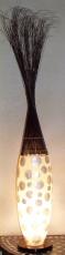 Stehlampe / Stehleuchte Pandoria - in Bali handgemacht aus Naturmaterial, Capiz / Perlmutt