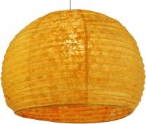 Halbrunder Lokta Papierlampenschirm, Hängelampe Corona Ø 40 cm - orange