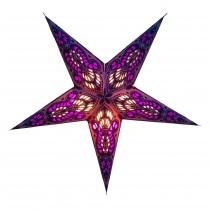 Faltbarer Advents Leucht Papierstern, Weihnachtsstern Menor small - violett