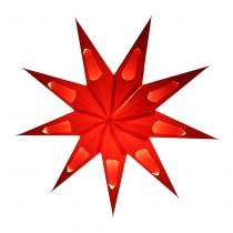 Faltbarer Advents Leucht Papierstern, Weihnachtsstern Aquarius