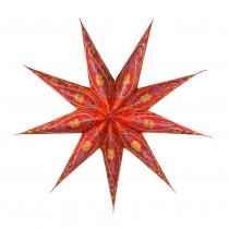 Faltbarer Advents Leucht Papierstern, Weihnachtsstern Stella - rot