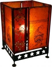Lederleuchte - Saree Tischlampe / Tischleuchte Chennai