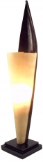 Palmenblatt Tischlampe / Tischleuchte Las Palmas - in Bali handgemacht aus Naturmaterial, Palmholz,