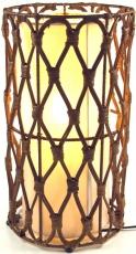 Tischlampe / Tischleuchte Maniera 30,40 - in Bali handgemacht aus Naturmaterial, Rattan,