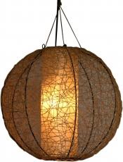 Deckenlampe / Deckenleuchte Miranda round - in Bali handgemacht aus Naturmaterial, Rattan,