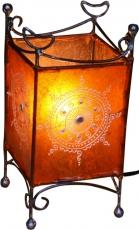 Henna - Leder Tischlampe / Tischleuchte Madras