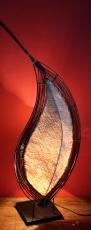 Orphelia Tischlampe / Tischleuchte - in Bali handgemacht aus Naturmaterial, Kokosfaser