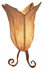 Tischlampe Tulip Rinde - in Bali handgemacht aus Naturmaterial, Kokosfaser,