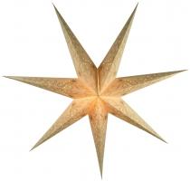 Faltbarer Advents Leucht Papierstern, Weihnachtsstern Raja - natur