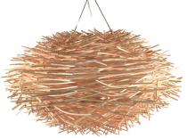 Deckenlampe / Deckenleuchte Famagusta - in Bali handgemacht aus Naturmaterial, Rattan,
