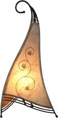 Henna - Leder Tischlampe / Tischleuchte Bangsal