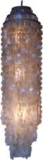 Deckenlampe / Deckenleuchte Samos, Muschelleuchte aus hunderten Capiz, Perlmutt-Plättchen