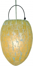 Deckenlampe / Deckenleuchte Miramar, handgemacht in Bali, Fiberglas mit Glasmosaik