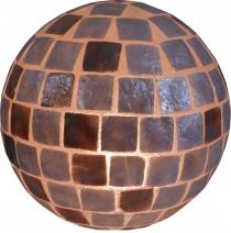 Tischlampe / Tischleuchte Bola - in Bali handgemacht aus Naturmaterial, Capiz / Perlmutt