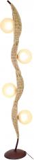 Stehlampe / Stehleuchte Kokopelli Frijoles Floor Lamp 170 cm - exotische Leuchte aus Natur-Material