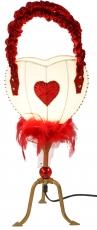 Tischleuchte Kokopelli Heart bag H1098w