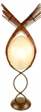 Stehlampe / Stehleuchte Kokopelli Pabo Lamp - exotische Leuchte aus Natur-Material