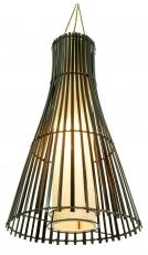 Deckenlampe / Deckenleuchte Kongo - in Bali handgemacht aus Naturmaterial, Bambus, Baumwolle