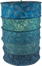 runde Papier Hängelampe, Papierlampenschirm Everest, handgeschöpftes Papier - blau